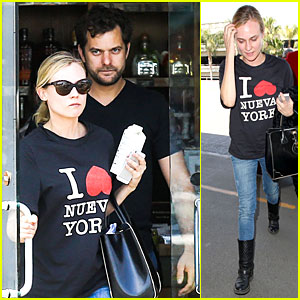 Diane Kruger Rocks Very Loose T-Shirt for Breakfast with Joshua Jackson!