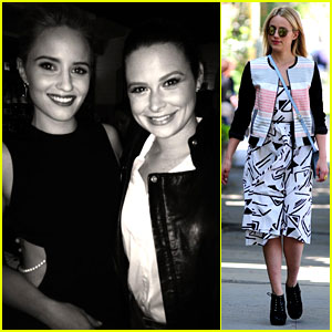 Dianna Agron Hangs Out with TV's Other Quinn - Katie Lowes!