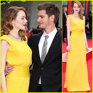 Emma Stone & Andrew Garfield Only Have Eyes for Each Other at 'Amazing Spider-Man 2' World Premiere!