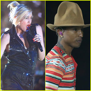 Gwen Stefani Performs 'Hollaback Girl' with Pharrell Williams at Coachella 2014! (Video)