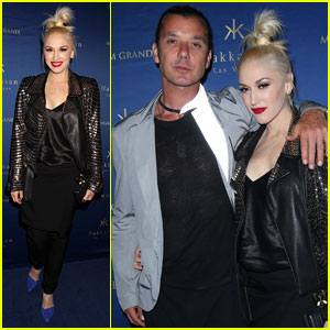 Gwen Stefani Rocks High Ponytail at Hakkasan Party with Hubby Gavin Rossdale