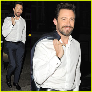 Hugh Jackman Enjoys the Ride of Promoting 'X-Men: Days of Future Past'!