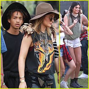 Jaden Smith & Kylie Jenner Make It All About the Hats at Coachella!
