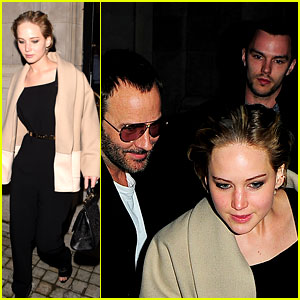 Jennifer Lawrence & Nicholas Hoult Dress Up for Dinner in Lond