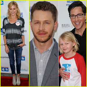 Josh Dallas Preps for Fatherhood By Reading to Kids at Milk + Bookies Event!