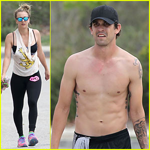 Kaley Cuoco Shows Off Sports Bra on Workout with Shirtless Ryan Sweeting!