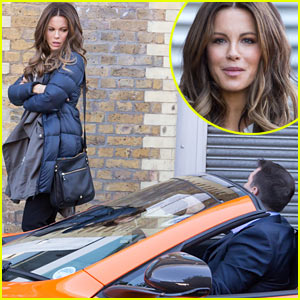Kate Beckinsale Films 'Absolutely Anything' Alongside a Really Really Nice Car!