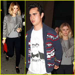 Kate Mara Holds Hands with Boyfriend Max Minghella at Dinner!
