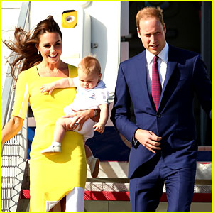 Kate Middleton & Prince William Change Outfits for Australia Arrival with Prince George!
