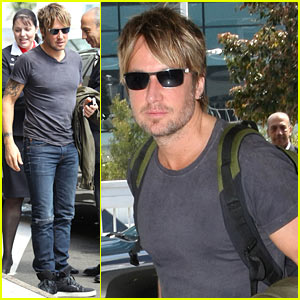 Keith Urban Catches Flight to the States for 'American Idol' Taping Tonight!