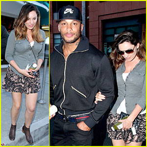 Kelly Brook Holds Onto Fiance David McIntosh's Huge Arm in Beverly Hills!