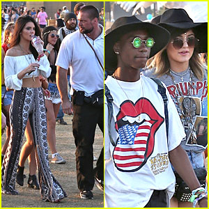 Kendall & Kylie Jenner Bring Their Bodyguards to Coachella