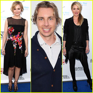 Kristen Bell & Dax Shepard 'Light Up the Blues' with Christina Applegate