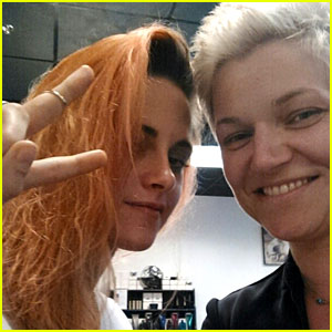 Kristen Stewart Dyes Her Hair Orange-Red