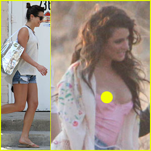 Lea Michele Steps Out After Suffering Nip Slip on Video Shoot