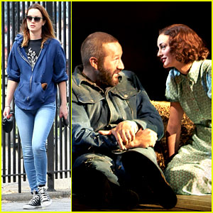 Leighton Meester Woos Chris O'Dowd in New 'Of Mice & Men' Production Photos!