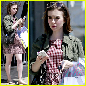 Lily Collins Eases Her Way Into Her Chic Spring Attire