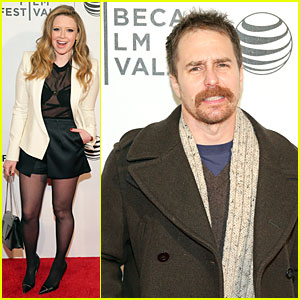 Natasha Lyonne & Sam Rockwell Are 'Loitering with Intent' at Tribeca Film Festival!