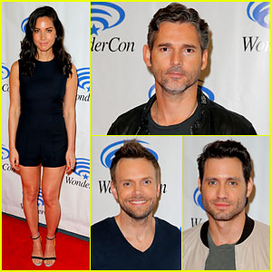 Olivia Munn Attends WonderCon with Her Hunky 'Evil' Co-Stars!