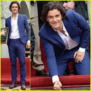 Orlando Bloom Receives Star on the Hollywood Walk of Fame!