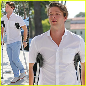 Patrick Schwarzenegger Is Still a Heartthrob When on Crutches