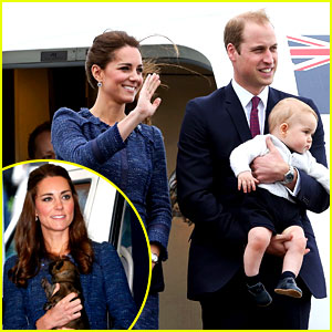 Prince George Makes an Appearance After His Parents Play with Puppie