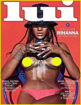 Rihanna Goes Topless, Fully Exposes Breasts for 'Lui' Magazine