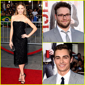 Seth Rogen & Dave Franco: 'Neighbors' Premiere with Halston Sage!