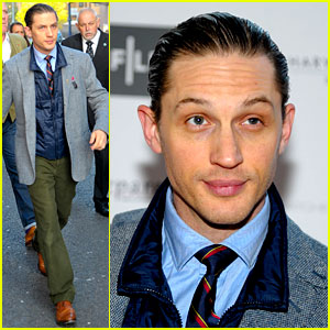 Tom Hardy Slicks Back His Hair for 'Locke' UK Premiere!