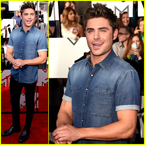 Zac Efron Puts His Arms on Display at MTV Movie Awards 2014