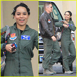 Zoe Kravitz  & Ethan Hawke Sport Flight Suits for 'Good Kill'!