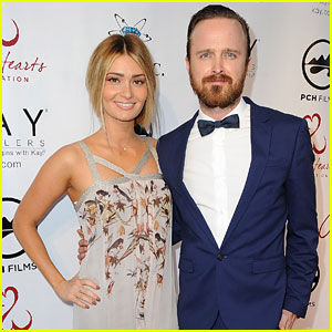 Aaron Paul & Wife Lauren Parsekian 'Open Their Hearts' at Annual Gala!