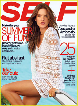 Alessandra Ambrosio Gets Leggy on 'Self' June 2014 Cover!