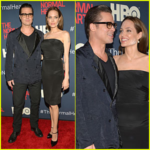 Angelina Jolie Gives Brad Pitt the Look of Love at 'Normal Heart' NYC Premiere!