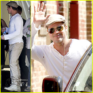 Brad Pitt Preps for the Make It Right Gala in New Orleans!