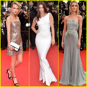 Rosie Huntington-Whiteley & Barbara Palvin Go Glam for 'Search' Cannes Premiere