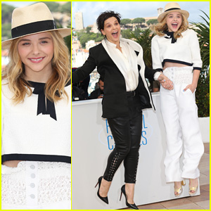 Chloe Moretz & Juliette Binoche Jump for Joy at Cannes 'Clouds of Sils Maria' Photo Call!