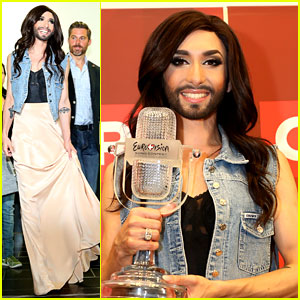 Conchita Wurst Greeted by Fans in Austria After Eurovision Win!