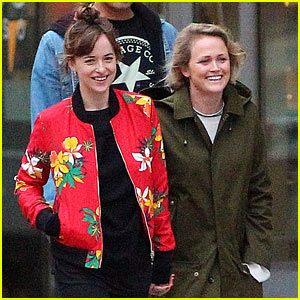 Dakota Johnson Holds Hands with Pal Emily Ward After Dining Out