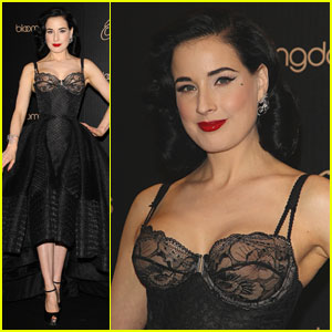 Dita Von Teese Shows Off New Lingerie Line at Bloomingdale's Launch!