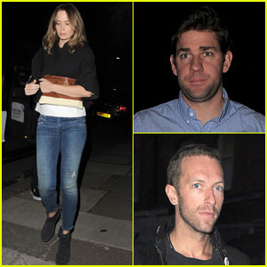Emily Blunt & John Krasinski Hit the Town with Chris Martin & Jeremy Renner!