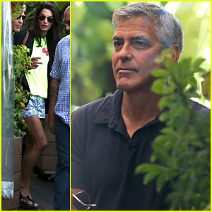 George Clooney & Amal Alamuddin Celebrate Their Engagement Surrounded By Celebrity Friends!