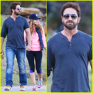 Gerard Butler Steps Out in Bondi with Mystery Woman!