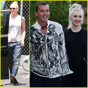 Gwen Stefani & Gavin Rossdale Coordinate Oufits for Friend's Wedding!