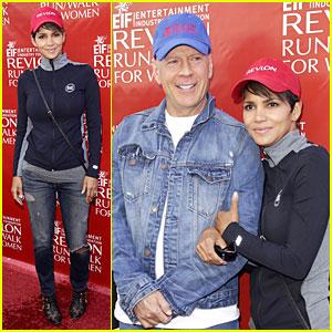 Halle Berry Leans On Bruce Willis at EIF Revlon Run/Walk!