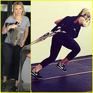 Hilary Duff Shows Her Impressive Strength with Total Body Gym Workout!