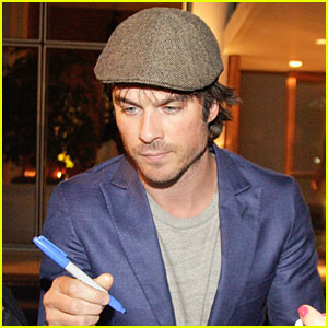 Ian Somerhalder Looks Super Suave For His Brazilian Fans!
