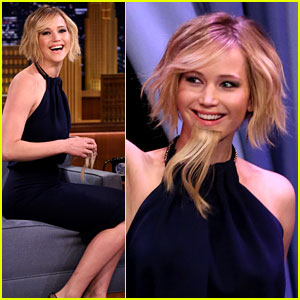 Jennifer Lawrence Is a Bearded Lady for 'Tonight Show' Visit!