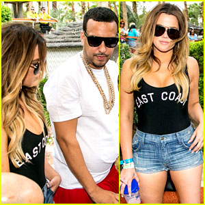 Khloe Kardashian Parties with French Montana in Las Vegas