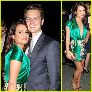 Lea Michele Supports BFF Jonathan Groff at 'The Normal Heart' Premiere After Party!